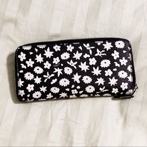 COACH Graphic Floral Accordion Zip Wallet
